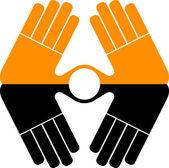 Hand logo — Stock Vector