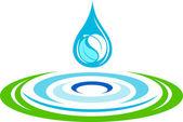 Water ripples logo — Stock Vector