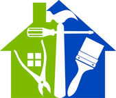 Home tools logo — Vettoriale Stock