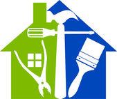 Logo maison outils — Vecteur