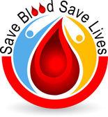 Blood logo — Stock Vector