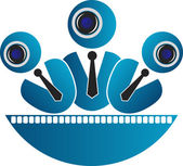 Security camera logo — Stock Vector