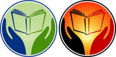 Hand book logo — Stock Vector
