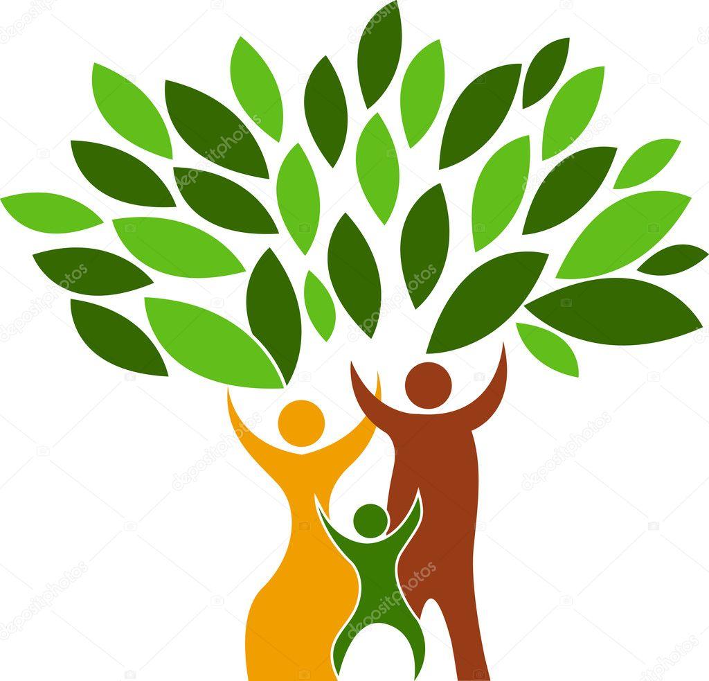 Family tree logo stock illustration