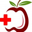 Health apple — Stock Vector