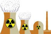Nuclear plant logo — Stock Vector