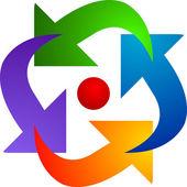 Arrow logo — Stock Vector