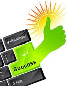 Technologia sukcesu — Wektor stockowy