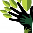 Hand tree - Stock Vector