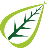 Logotipo da folha — Vetor de Stock