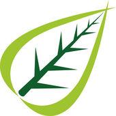 Logo foglia — Vettoriale Stock