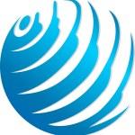 Globe logo — Stock Vector