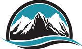 Mountain logo — Stock Vector