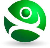 Globe human logo — Stock Vector