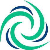 Logotipo de rotación — Vector de stock
