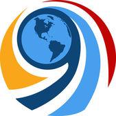 Globe quotation mark — Stock Vector