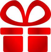 Geschenk-logo — Stockvektor