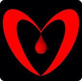 Heart blood — Stock Vector