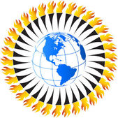 Around olympic flame — 图库矢量图片