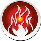 Flame logo — Stock Vector