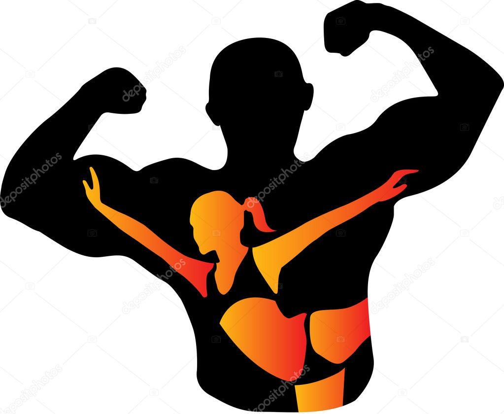 健身房概念男人 — 图库矢量图像08图片