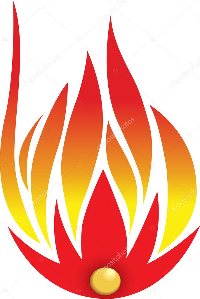 Illustration art of fire with isolated background  Stock Vector #9856558