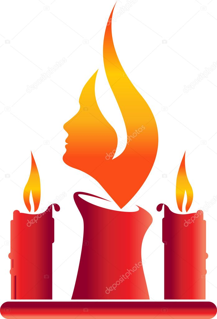Illustration art of candle face with isolated background  Stock vektor #9859597
