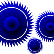 Stock Vector: Gear shape