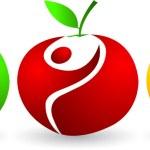 Active apples — Stock Vector