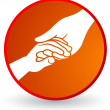 Helping hand — Stock Vector