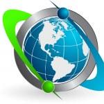 Communication world — Stock Vector