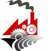 Factory shape — Stock Vector