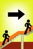 Arrow exit — Stock Vector