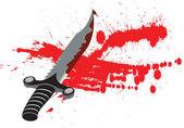 Blod kniv — Stockvektor