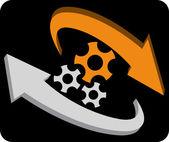 Kruhu gear — Stock vektor