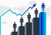 Business growth — Cтоковый вектор