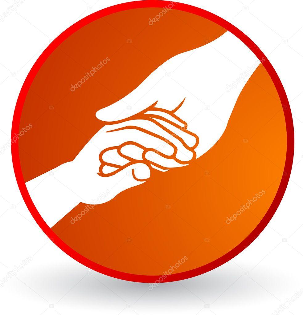 Illustration art helping hand Helping Hand Icon