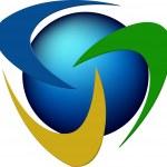 Rotation logo — Stock Vector