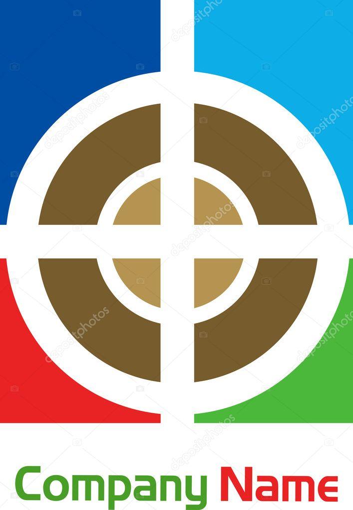 Aim Target Logo Illustration Art of Target Aim