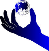Hand world — Stock Vector