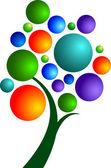 Пузыри дерево — Cтоковый вектор