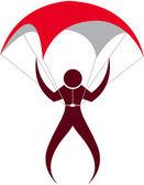 Parachute logo — Stock Vector