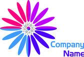 Flower logo — Stock Vector