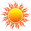 Sun logo — Stock Vector #9941178