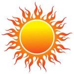 Sun logo — Stock Vector #9941178