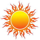 Sun logo — Stock Vector