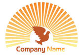 Pigeon logo — Stock Vector