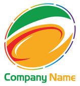 Corporate round logo — Stock Vector