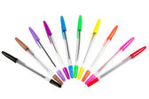 Collection of multicolored ballpoints. — Stock Photo