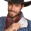 Young man with playing-cards. - Stock Photo
